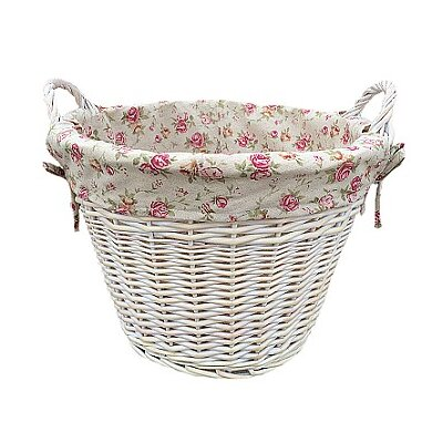 Willow Direct Ltd Log Basket with Garden Rose Lining
