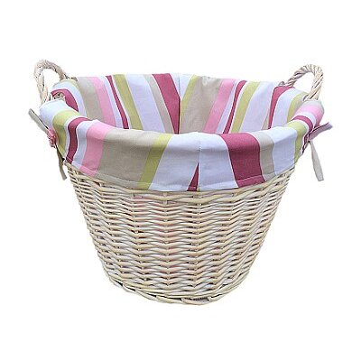 Willow Direct Ltd Log Basket with Striped Lining