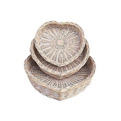 Willow Direct Ltd 3 Piece Heart-Shaped Basket Set