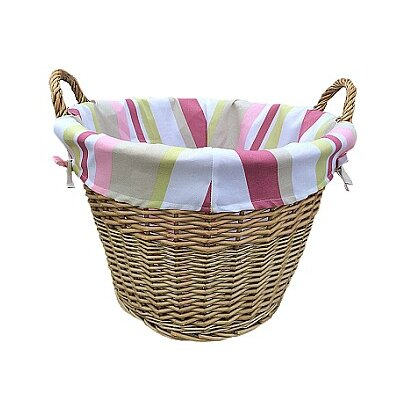 Willow Direct Ltd Log Basket with Stripe Lining