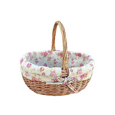 Willow Direct Ltd Deluxe Shopper Basket with Rose Lining