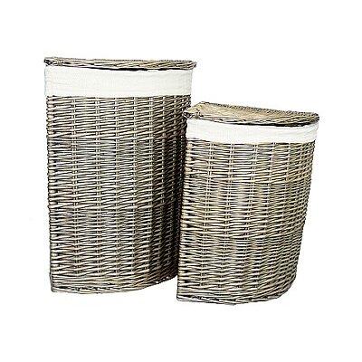 Willow Direct Ltd 2 Piece Corner Linen Basket Set