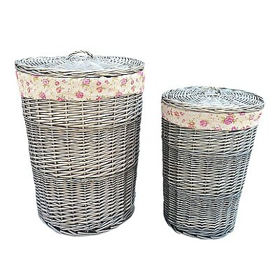 Willow Direct Ltd 2 Piece Laundy Basket Set with Garden Rose Lining