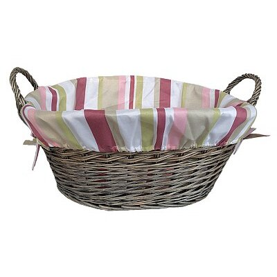 Willow Direct Ltd Laundry Basket with Striped Lining