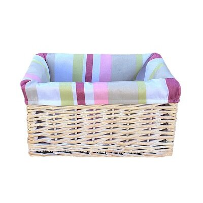 Willow Direct Ltd Storage Basket with Stripe Lined