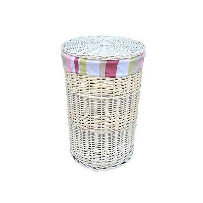 Willow Direct Ltd Laundry Hamper with Striped Lining