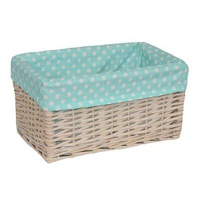 Willow Direct Ltd Storage Basket with Spotty Lining