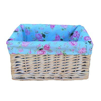 Willow Direct Ltd Basket with Cottage Rose Lining