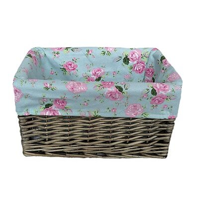 Willow Direct Ltd Storage Basket with Cottage Rose Lining