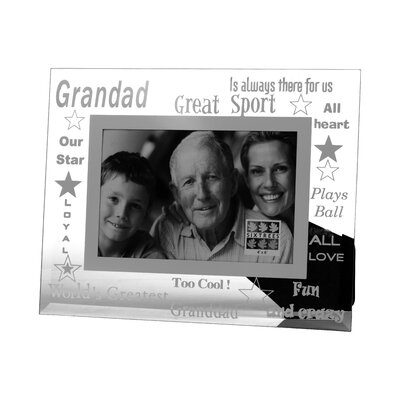 Sixtrees Moments Bevelled Glass Grandad Photo Frame