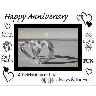 Sixtrees Moments Bevelled Glass Happy Anniversary Photo Frame