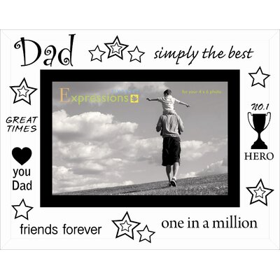 Sixtrees Moments Bevelled Glass Dad Photo Frame