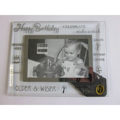Sixtrees Moments Bevelled Glass Happy Birthday Photo Frame