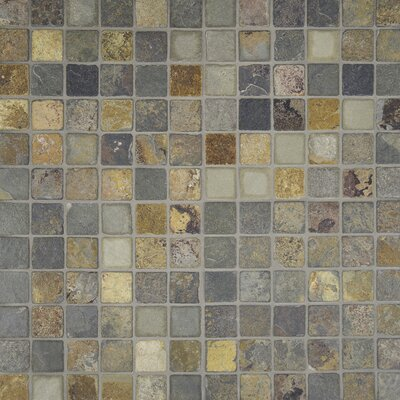 "2"" x 2"" Slate Mosaic Tile in California Gold"
