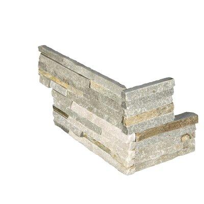 """6"""" x 18"""" Quartzite Splitface Tile in Gold"""