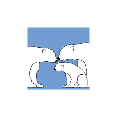 "Animals Polar Bears Painting Print on Canvas Size: 28"" H x 28"" W, Color: Blue Hue"