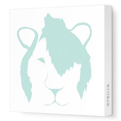 Animal Faces Punk Lion Stretched Canvas Art