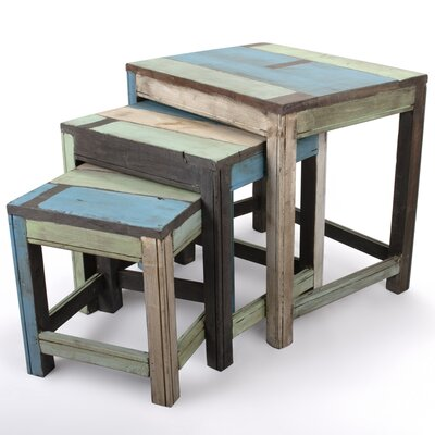 Borough Wharf Cherrylawn 3 Piece Nesting Table Set