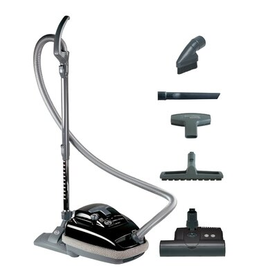 Airbelt K3 Canister Vacuum with ET-1 Power Head and Parquet Brush Color: Black