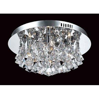 Impex Lighting Parma 4 Light Semi Flush Ceiling Light