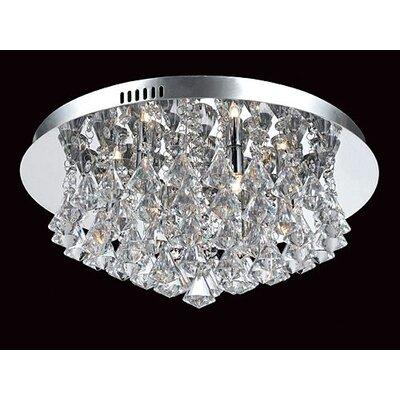 Impex Lighting Parma 6 Light Semi Flush Ceiling Light