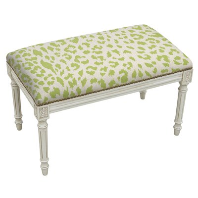 Tyre Upholstered and Wood Bench Color: Chartreuse