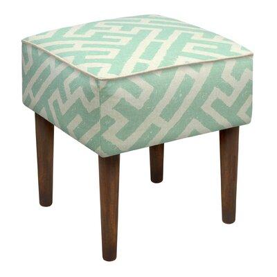 Noe Lattice Upholstered Vanity Stool Color: Aqua