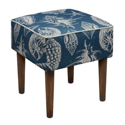 Seashells Upholstered Vanity Stool Color: Navy Blue