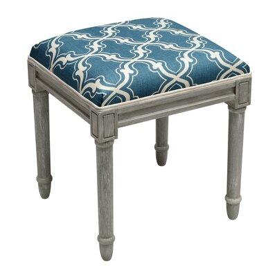 Frey Trellis Vanity Stool Color: Navy Blue