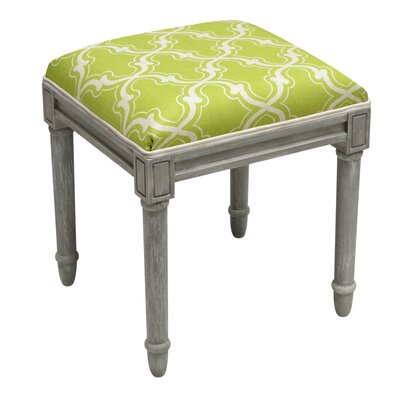 Frey Trellis Vanity Stool Color: Chartreuse Green