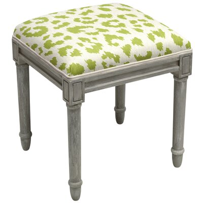 Tyre Leopard Pattern Vanity Stool Color: Chartreuse Green