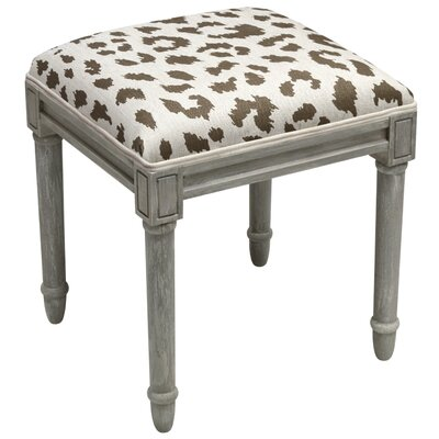 Tyre Leopard Pattern Vanity Stool Color: Gray