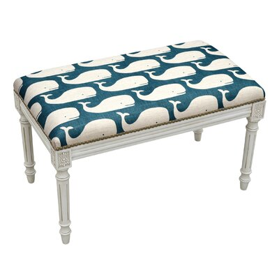 Whales Wood Bench Color: Navy Blue