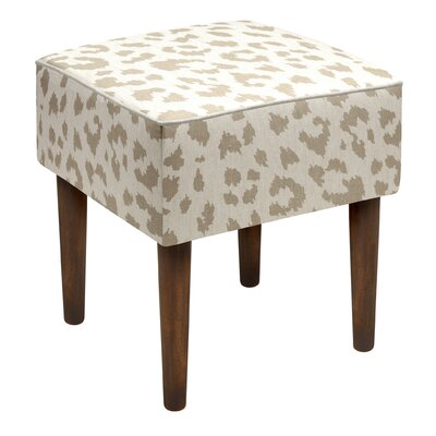 Tyre Cheetah Linen Upholstered Vanity Stool Color: Taupe