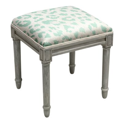 Tyre Leopard Pattern Vanity Stool Color: Aqua