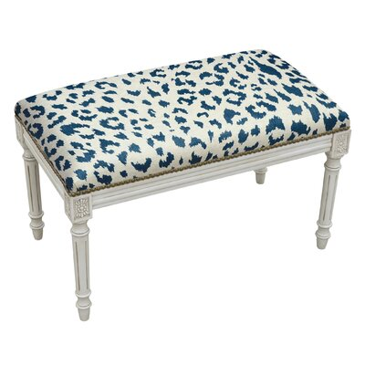 Tyre Upholstered and Wood Bench Color: Blue