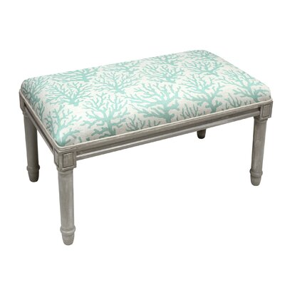Upholstered Bench Upholstery Color: Aqua