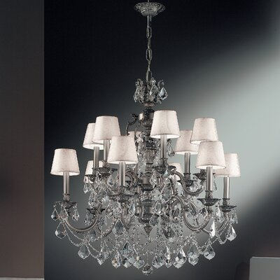 Chateau Imperial 12-Light Shaded Chandelier Crystal Type: Crystalique-Plus, Finish: French Gold