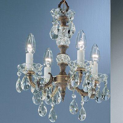 Madrid 4-Light Candle Style Chandelier Finish: Olde World Bronze, Crystal Type: Prisms Amber