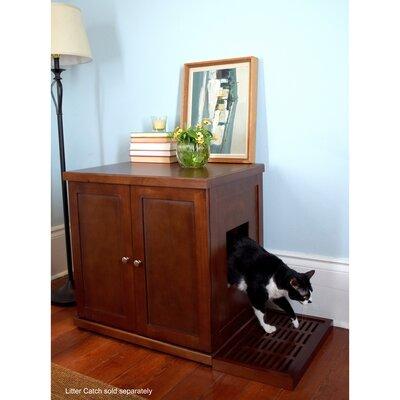Clementine Wooden Litter Box Cabinet Size: Large, Finish: Smoke