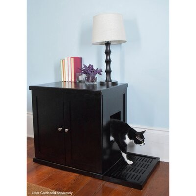 Clementine Wooden Litter Box Cabinet Finish: Espresso, Size: Large