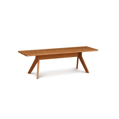 "Audrey Wood Bench Bench Size: 17.5"" H x 60"" W x 17.75"" D, Color: Natural Cherry"