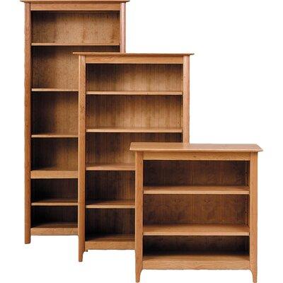 "Sarah Standard Bookcase Color: Smoke Cherry, Size: 58"" H x 34"" W x 16"" D"