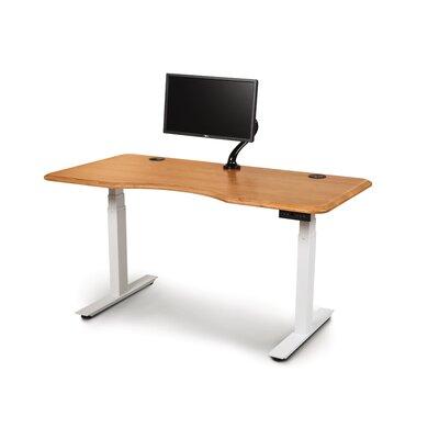 "Invigo Desk Size: 30"" H x 60"" W, Color (Top/Frame): Natura Cherry/White"