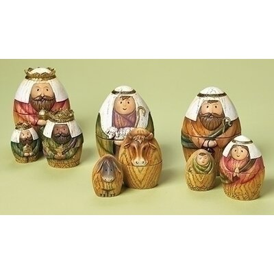9 Piece Nesting Box Nativity Set