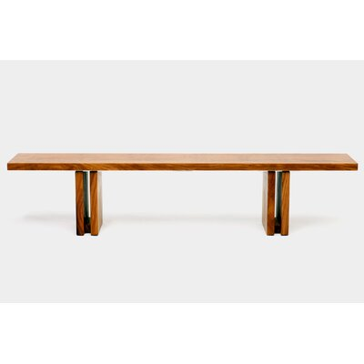 "Occidental Outdoor Wood Bench Size: 18"" H x 84"" W x 12"" D"