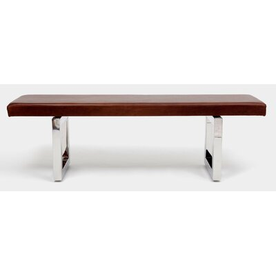 "GAX Leather Bench Size: 18"" H x 60"" W x 16"" D"