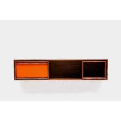 Low Console Table Size: Small, Color: Orange Door