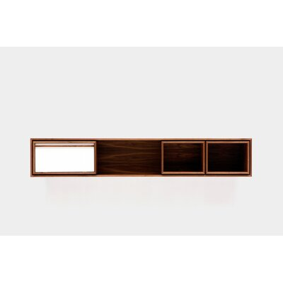 Low Console Table Size: Small, Color: White Door