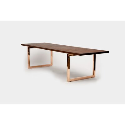 "Gax Writing Desk Size: 30"" H x 48"" W x 24"" D, Color: Copper"